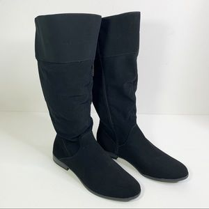 STYLE & CO. Faux Suede Kelimae Wide Calf Boots 9.5